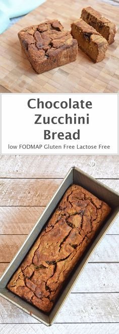 Chocolate Zucchini Bread - A delicious snack. Quick to make and easy for on the go. Gluten-free / Lactose-free / Low FODMAP