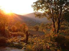 Po, herfst vanaf het terras van mijn vaders huis