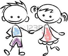 Illustration of Cute happy cartoon kids vector art, clipart and stock vectors. Art Drawings For Kids, Drawing For Kids, Easy Drawings, Happy Cartoon, Cartoon Kids, Cartoon Sketches, Art Drawings Sketches, Doodle Kids, Doodle Art