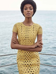 Simply beautiful: Jourdan Dunn is unrecognisable as she rocks a chic afro on the cover of Vogue Brazil