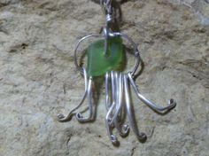 Sterling silver jellyfish necklace
