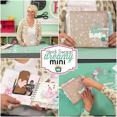 Heidi Swapp: Dreamy Mini Heidi shares a step by step process for creating a beautiful mini-book project using her Dreamy Collection.