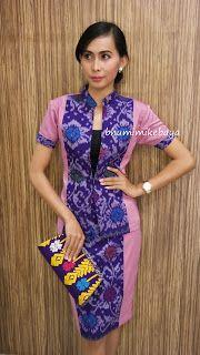 Model Dress Batik, Batik Dress, Blouse Batik Modern, Hijab Fashion, Fashion Outfits, Model Kebaya, Batik Kebaya, Dress Making Patterns, Ethnic Dress