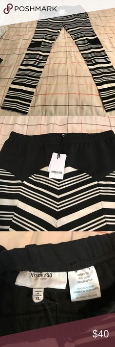 Hyden Yoo NY black/white leggings XL New with tags hyden yoo Pants Leggings
