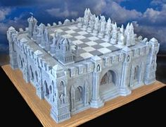 I have built exactly 1 and 1/2 of these :) Time consuming, but they look great! Gothic Chess Set Building Instructions
