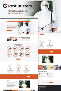 This fully #responsive  Pest Control WordPress Theme will help you to create a noticeable website for your house maintenance business. Almost ready-to use website theme with multiple layouts and pages that will work equally fast on any type of devices. With this theme you'll get great response rate, intuitive interface, stunning artwork and fully adjustable looks with blogging and social network support. And multiple features, like animated counter and dynamic pages will make your website