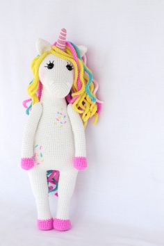 PATTERN Sweet unicorn PDF crochet toy pattern