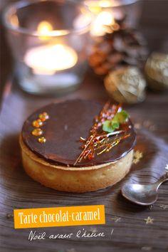 TARTE AU CARAMEL PÉCAN, CRÉMEUX AU CHOCOLAT ~ Chcolate cream caramel pecan tartlet