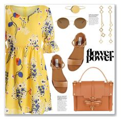 """Flower Power"" by christinacastro830 ❤ liked on Polyvore featuring Arme De L'Amour, Steve Madden, Niels Peeraer and Mykita"