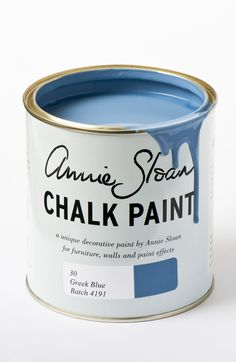 <p>Throughout the Mediterranean, Greek Blue can be found on rustic doors, shutters and furniture often faded and distressed. It's also a colour that works well in a neoclassical interior deepened a little with dark wax.</p> <p>Available in 100ml small project pots and 1 litre tins.</p>