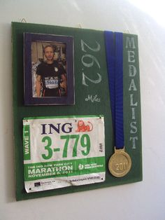 Would be a great way to display my first marathon medal!