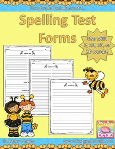 Use these spelling test forms for your weekly spelling test. Included are test forms for: 5 words 10 words 10 words + 2 bonus words 10 words + 2 b. Fun Classroom Activities, Spelling Activities, Classroom Ideas, Google Classroom, Spelling Test, Spelling Words, Spelling Ideas, Reading Stations, Kindergarten Language Arts