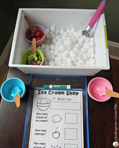 Ice cream shop small world invitation to play