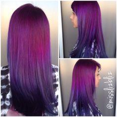 Purple blue melt