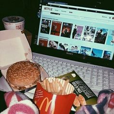 Chilling and enjoying your own company is real important foodie netflix mentalhealth mcdonalds Netflix Kids, Netflix And Chill, Instagram Camila, Instagram Story, Mythos Academy, Fast Food, Flirt, Lazy Days, Sleepover