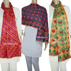 Phulkari Stole Rs.1,699.00  Shop Now: www.jankiphulkari.com