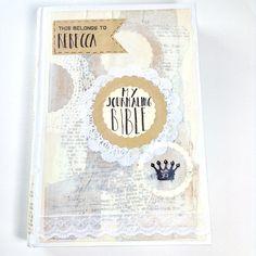 selbst gestaltetes Cover der Journalingbibel