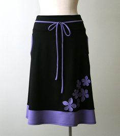 Black + purple skirt