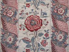 18th century French style ~ wonderful hand carved wooden block printed textile ~ another beauty From 18th century France ~