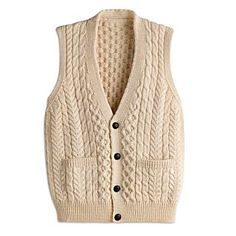 Cable Sweater, Cable Knit, Vest Pattern, Knit Vest, Knitting For Kids, Baby Sweaters, Knitting Designs, Lolita Fashion, American Apparel