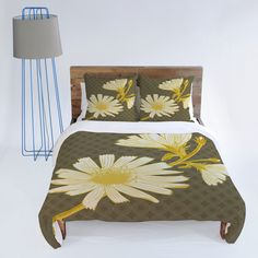 Caroline Okun Soleil 1 Duvet Cover #bedding #bedroom #flower #gold #mustard