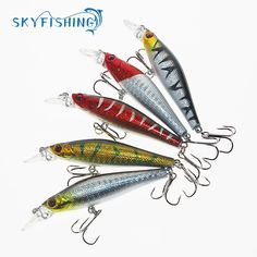 1 PCS  8CM 7.9G Minnow Lure Sea Fishing Tackle Fishing Kit Hard Bait Jig Lure  Fishing Lure 6# Hooks Fishing Tackle #Affiliate