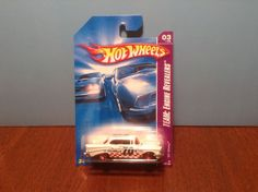 Hot Wheels '57 Chevy #155 Team: Engine Revealers 2008 White 1957 Hood Opens…