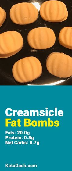 Trying this Creamsicle Fat Bombs and it is delicious. What a great keto recipe. #keto #ketorecipes #lowcarb #lowcarbrecipes #healthyeating #healthyrecipes #diabeticfriendly #lowcarbdiet #ketodiet #ketogenicdiet