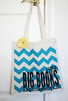 {Silhouette Project} Big Books Book Bag-Cracks me up-What can I say? Good Books, Big Books, Library Bag, Library Books, Haha, Little Bit, Silhouette Cameo Projects, Silhouette Machine, Book Worms