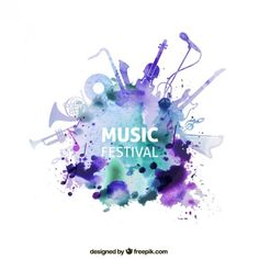 funky music festival ticket design - Google Search