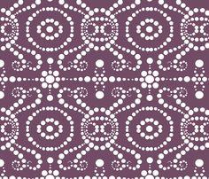 Elegant Eggplant_Large fabric by tallulahdahling on Spoonflower - custom fabric