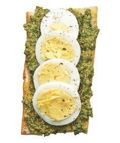 Pesto and Egg Open-Face Sandwich recipe