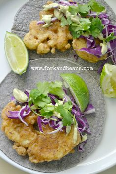 Beer-Battered Cauliflower Tacos   Fork and Beans