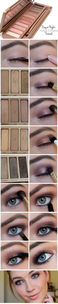 Naked 3 Palette: Easy Day or Night Smokey Eye | www.loveshelbey.com | #naked3 #nakedpalette #naked3palette: