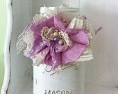 Quart Mason Jar Ties/ Choose A Color/ Flower Aprons/ Rustic Wedding Decorations…