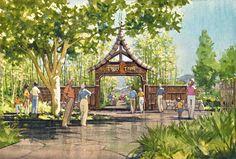 San Diego Zoo Safari Park - Tiger Trail Entrance Perspective