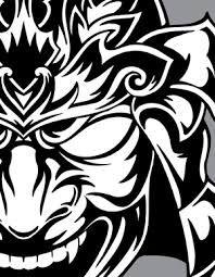 samurai mask - Cerca con Google Tribal Warrior, Guitar Art, Tribal Tattoos, Samurai, Rooster, Stencils, Animals, Design, Google