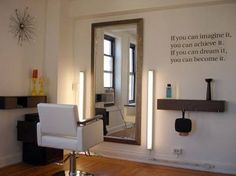 Adorbs home salon idea.                                                                                                                                                      More