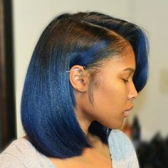 African American Black To Blue Ombre Bob bob hairstyles african american relaxed hair 60 Showiest Bob Haircuts for Black Women My Hairstyle, Girl Hairstyles, Black Hairstyles, Hairstyles 2016, Weave Hairstyles, Beautiful Hairstyles, Trending Hairstyles, Ponytail Hairstyles, Black Women Natural Hairstyles