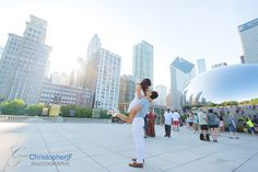 Chicago Engagement Photos - by Christopher F Photography - www.ChristopherFPhotography.com