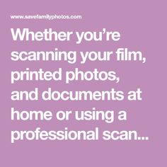 Whether you're scanning your film, printed photos, anddocuments at home or using a professional scanning company, you will undoubtedly be faced with this perplexing issue: Scanning doesn't actually archive information about your photo.That's right, digitizing your vintage family photos isn't enough. It's no different than discovering an old photo album only to realize that no …