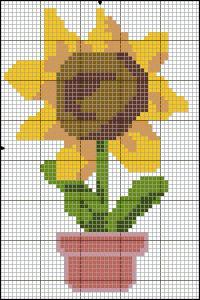 Ponto Cruz Flores 8 - Girassol