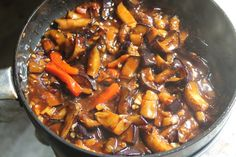 Sweet and Sour Eggplants Recipe - Yummy Tummy Sweet And Sour Eggplant Recipe, Eggplant Tofu Recipe, Eggplant Recipes, Tofu Recipes, Chilli Gobi, Chilli Paneer, Chinese Eggplant, Sweet N Sour Chicken, Eggplants