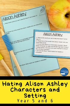 Hating Alison Ashley Characters and Setting Teaching Activities, Teaching Strategies, Teaching Ideas, Language Study, Language Arts, Character Activities, Maths Investigations, Teacher Resources, Classroom Resources