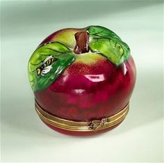 Limoges Big Red Apple Bee Box The Cottage Shop