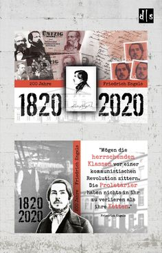 Postkartenmotive zum 200. Jubiläum von Friedrich Engels #diesite #postkarten #postkartendesign #printdesign #marxundengels #kommunismus #engels #marx #manifest #daskapital #bergischesland #designagentur Revolution, Web Design, Clever, Books, Movie Posters, Movies, Postcards, Design Web, Libros