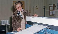 Nasa space scientist and mathematician Katherine Johnson at Nasa Langley Research Center, Hampton, Virginia, 1980.