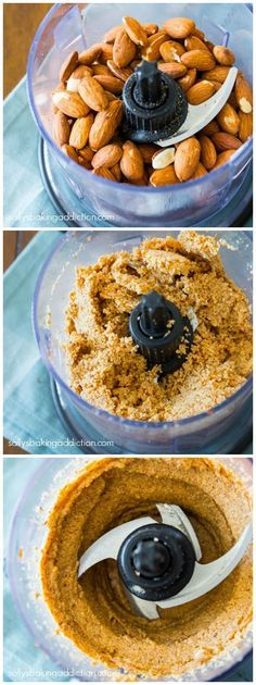 Exactly how I make Homemade Almond Butter. No added sugar, fat, or salt. All-natural goodness!