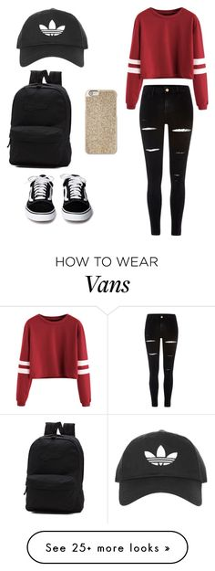 """""""Untitled #1"""" by aleksandra-pashkova on Polyvore featuring River Island, Topshop, Michael Kors and Vans"""