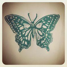 #butterfly #linocut #printing, via Flickr.